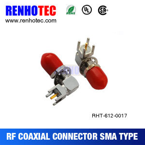 Right Angle SMA Connector Female PCB Mount with Cap Nut pictures & photos