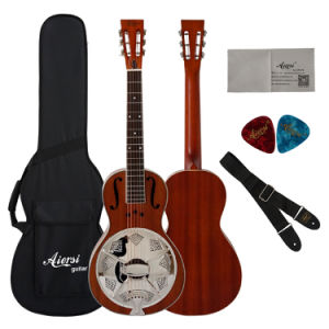 Wholesale Cheap Mahogany Body Parlor Resonator Guitar pictures & photos