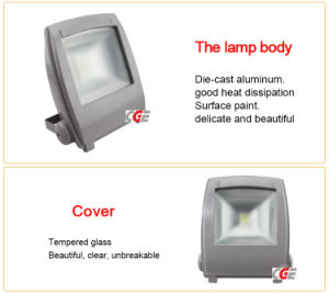 80W/100W/120W/150W High Quality Die Cast Aluminum Waterproof IP65 Waterproof, High Lumens LED Floodlights pictures & photos