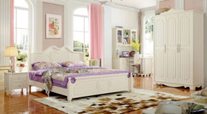 New American Style Wooden Bed for Bedroom Furniture (A105) pictures & photos