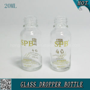 20ml Empty Transparent Cosmetic Glass Dropper Bottle for Hyaluronic Acid pictures & photos