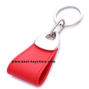 Promotion PU Leather Custom Metal Gift Keyring (BK21500) pictures & photos