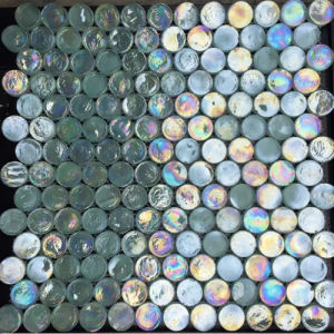 Round Pearl Mosaic Glass Tile pictures & photos