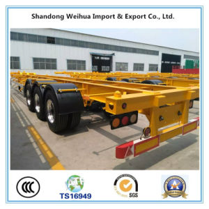 China 40FT Tri Axle Skeleton Container Semi Trailer for Sales pictures & photos
