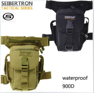Seibertron Waterproof Airsoft Tactical Drop Leg Panel Utility Pouch Bag Type B Black Cross Over Leg Rig Thermite Versipack
