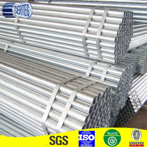 Steel Pipes Pre Galvanized ERW Tubes Made in China pictures & photos