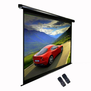 CE Approved Wireless Remote Motorized Projector Screen pictures & photos