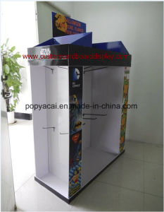 Cmyk Printed 1/2 Pallet Display with Metal Hooks for Pet Clothes, Corrugated Cardboard Pallet Display pictures & photos