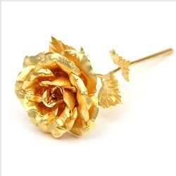 Handicraft 24k Festival Gift Gold Foil Rose