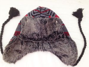 Faux Fur Knitted Hat with Earflap