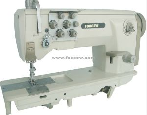 Heavy Duty Lockstitch Sewing Machine (Double Needle) pictures & photos