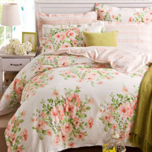 100% Cotton/Polyester Floral Home Bedroom Bedding Set pictures & photos