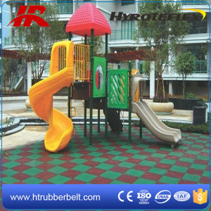 New Design Square Brick Outdoor Playground Rubber Flooring