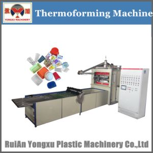 Plastic Cup Making Machine, Thermoforming Machine, Forming Machine, Plastic Cup Machine Connect with Stacker, Plastic Cup Thermocol and Stacking Machine (YXTL) pictures & photos