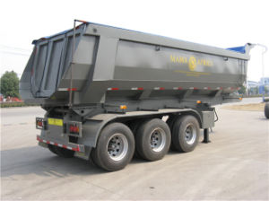 50tons Load 3-Axle Semi Trailer with Hyva Hydraulic pictures & photos