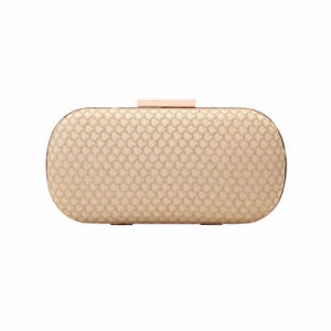 Gold Tone Fish Scale Clasp Evening Bag (MBNO041165) pictures & photos
