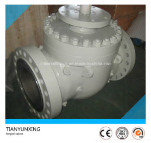 Manual Operation Casting Carbon Steel Flange Top Entry Ball Valve pictures & photos