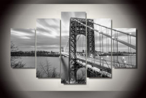 HD Printed George Washington Bridge Painting Canvas Print Room Decor Print Poster Picture Canvas Mc-090 pictures & photos