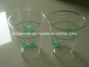 Cold Drinking Cup, Plastic Pet Cap, Custom Printing Logo Cup pictures & photos