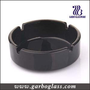 105mm Black Material Glass Ashtray for Cigarrate Smoking for Home Using (GB2604005B) pictures & photos