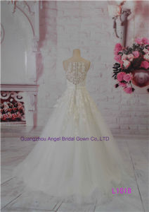 Popular Prinecess Pattern Chapel Train A-Line Bridal Gown Bridal Sash pictures & photos