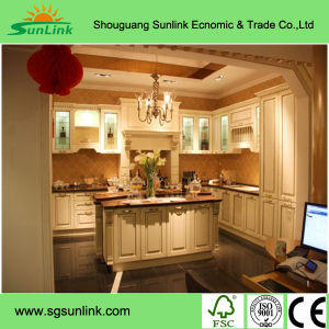 Kitchen Furniture with Solid Wooden Door for Project (WDHO8) pictures & photos