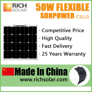 50W 12V Flexible Solar Panel Solar Cell Solar Power