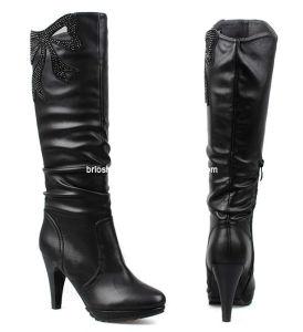 Generous Lady Low Heel Overknee Boots