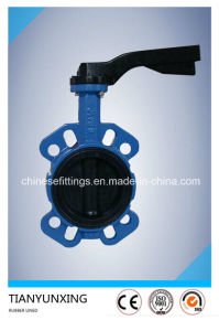 Ci Di Ductile Iron Single Shaft Rubber Coating Butterfly Valves pictures & photos