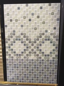 Blue Gradation Hexagonal Mosaic Pattern Bathroom Ceramic Wall Tiles pictures & photos