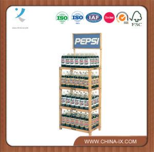 4 Shelf Wood Rack for 2 Liter Bottles pictures & photos