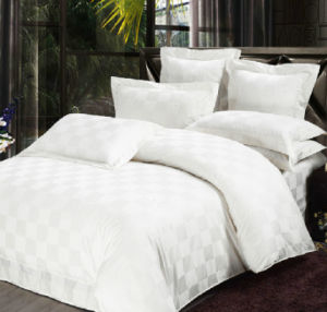 Write 100% Cotton Jacquard Bedding Set pictures & photos