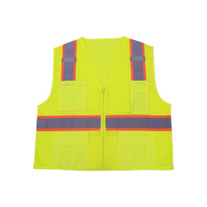 100% Polyester Mesh Safety Reflective Vest with Solid Pocket pictures & photos