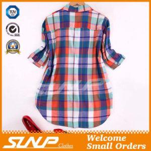 China Clothing Women Fashion Check Blouse