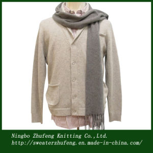 Men′s Shawl Neck Button Cardigan Sweater Nbzf0036