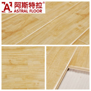 8mm&12mm High Gloss Surface (U-Groove) Laminate Flooring (AS6618) pictures & photos