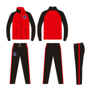 Custom Red and Black Sports Tracksuit with Sublimation Printing pictures & photos