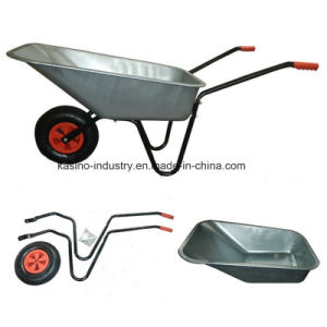 Hot Sales Galvanized Bucket &Building Wheelbarrow/Wheel Barrow in Russia (wb6080) pictures & photos