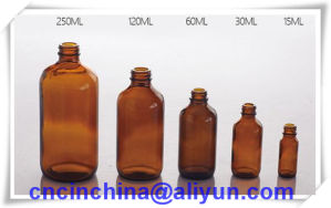 Amber Glass Bottles for Syrup DIN PP28mm pictures & photos