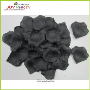 Black Artificial Polyester Rose Petals pictures & photos
