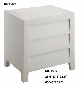 Super White Glass Decor Furniture 3 Drawer Cabinet pictures & photos