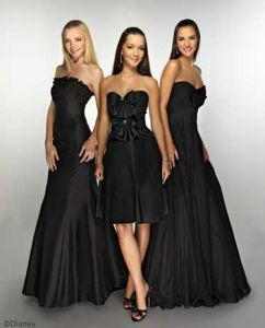 Black Sexy Strapless Bridesmaid Dress (Ogt008b)