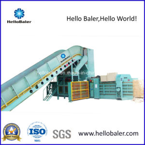 Automatic Hydraulic Horizontal Waste Paper Strapping Machine with Conveyor (HFA10-14) pictures & photos