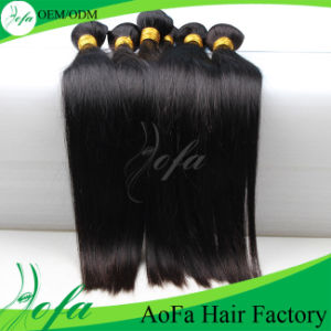 7A Straight Virgin Human Hair Weft Brazilian Virgin Hair pictures & photos