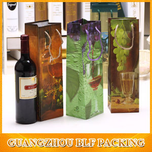 Luxury Custom Paper Wine Bottle Bag pictures & photos