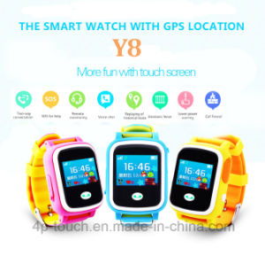 Touch Screen Kids GPS Watch with Multiple Color (Y8) pictures & photos