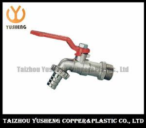 Nickel-Plating Brass Water Bibcock with Aluminum Handle (YS4005)