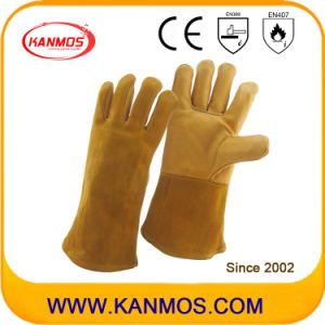 Cowhide Leather Industrial Welding Safety Work Gloves (11126)