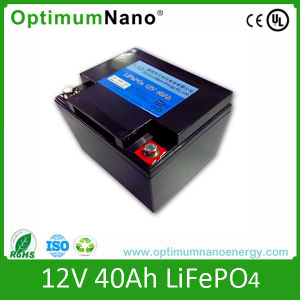 LiFePO4 12V 40ah for LED Light with PCM and Charger pictures & photos