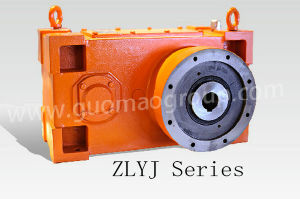 Guomao Hot Sale Zlyj Series Hard-Tooth-Faced Extruding Plats Machine Gear Reduction Unit with Large Specification Thrust Bearing